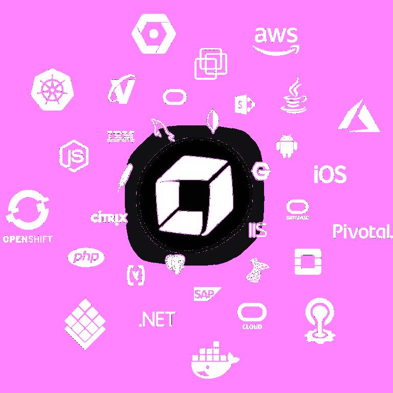 Technologies graphic white