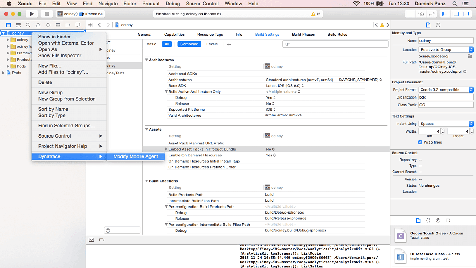 Xcode integration 1800 6acdc32898